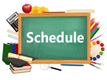 school schedule graphic