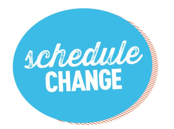 schedule change graphic