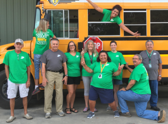 Bus Drivers Supporting our Hornets