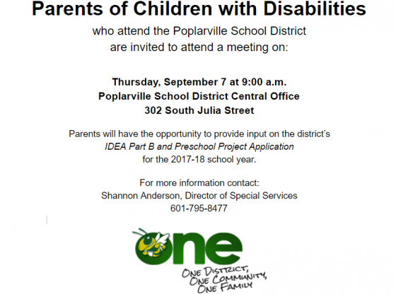 Parent Meeting Notice