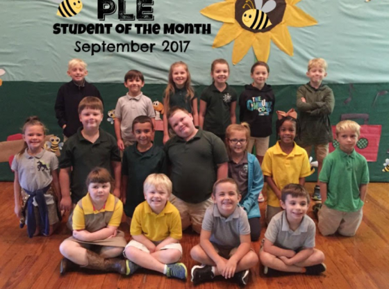 PLE September Student of the Month Photo