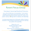 Parent Focus Group Flyer