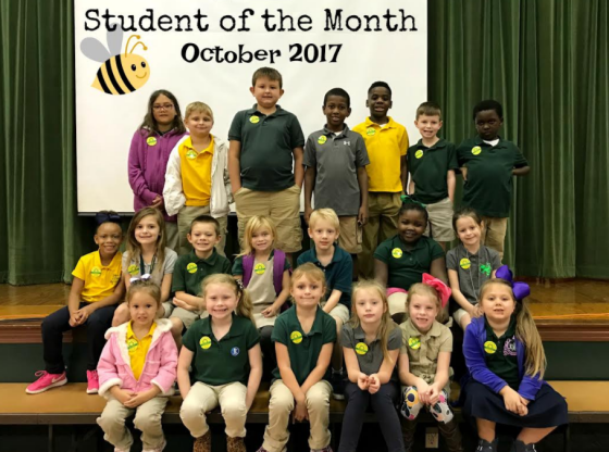 PLE Student of the Month Group Picture