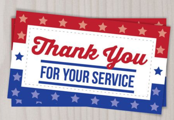 Thank you for your service graphic