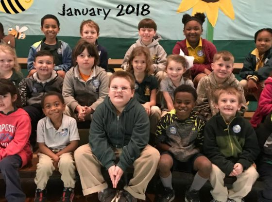 PLE January 2018 Students of the Month