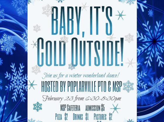 Winter wonderland dance flyer