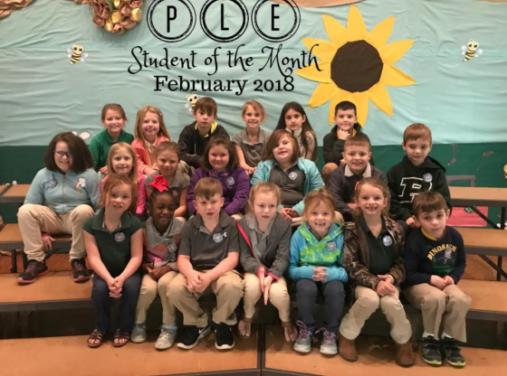 PLE Students of the Month Picture of Students