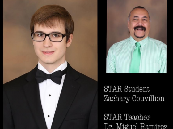Star Student Zachary Couvillion and Star Teacher Miguel Ramirez