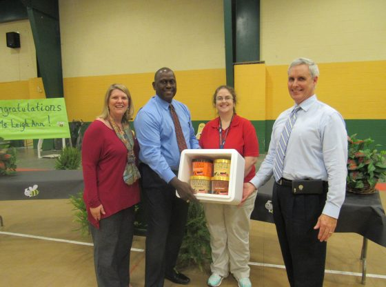 Teacher of the year presentation by Blue Bell
