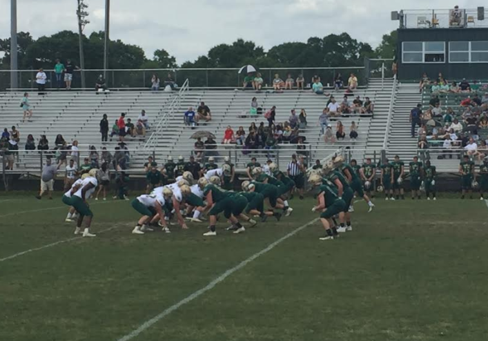 Football Players at Green and White Game