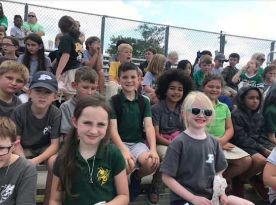 PLE Students at Green and White Game