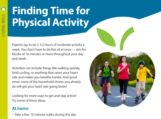 Finding Time for Physical Activity PDF