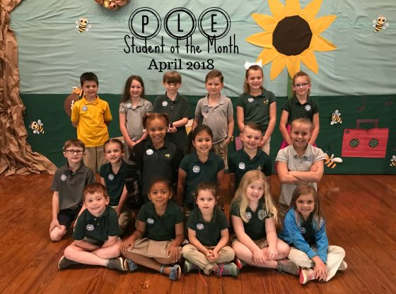 April Students of the Month for PLE 2018