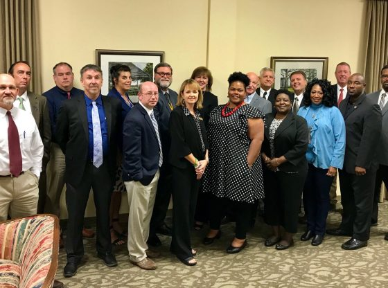 Pine Belt Meeting picture of attending superintendents