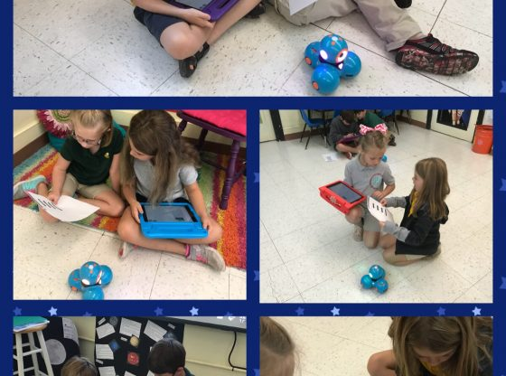 students work with robotics at PLE Quest
