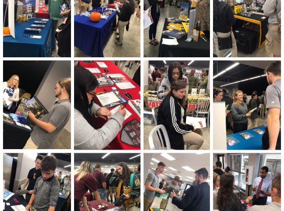 A collage of photos from College Kickoff activities.
