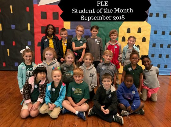 PLE September Students of the month for 2018