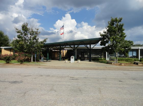 The front of Poplarville High School.