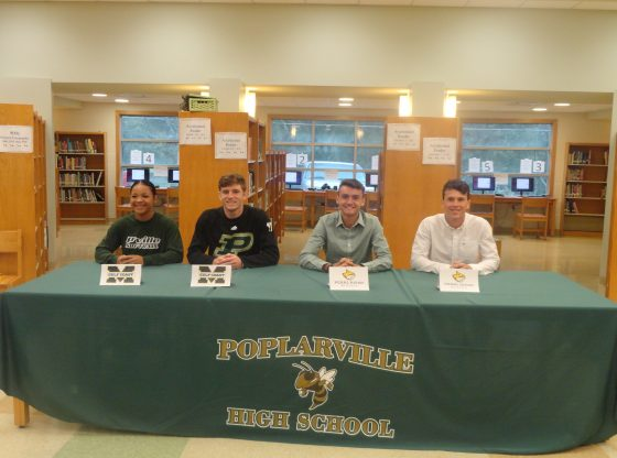 Rakeya Travis, Canaan Ray, Tres Ray, and Bradley Stines make their official college choices.