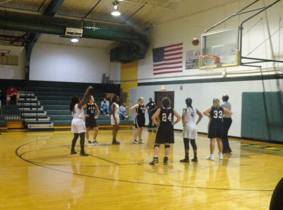 The varsity girls basketball team faces off against OLA at home.