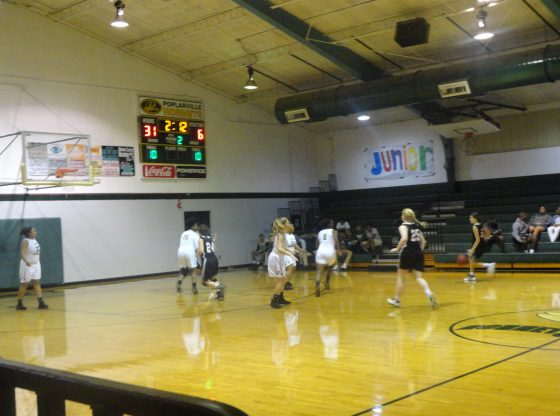 The Hornets girls varsity team playing against OLA.