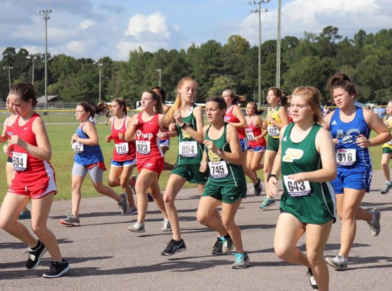 Poplarville High School competing in cross country