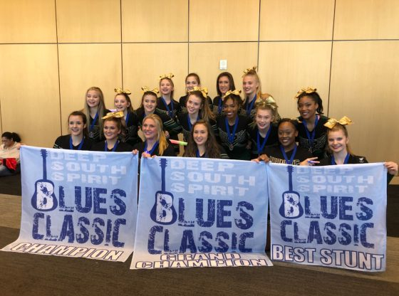 PHS Cheer wins big at the Blues Classic Competition