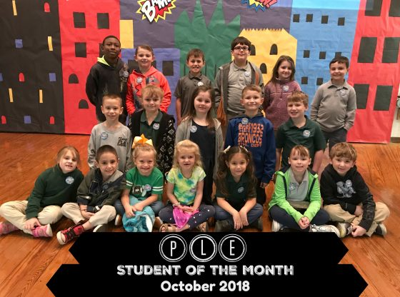 Students of the month pictured for their hard work all of the month of October at Poplarville Lower Elem.