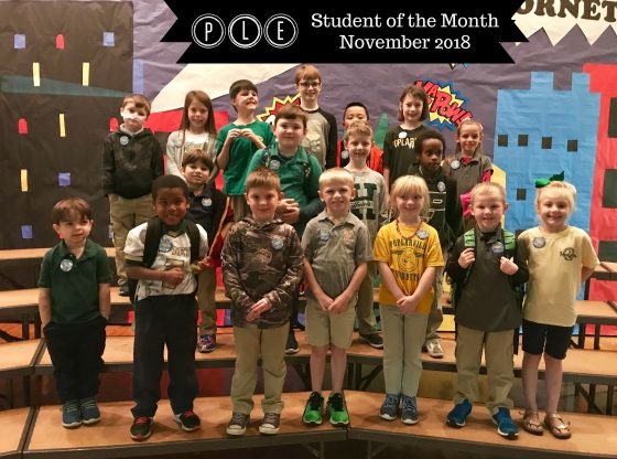November students for the month from PLE