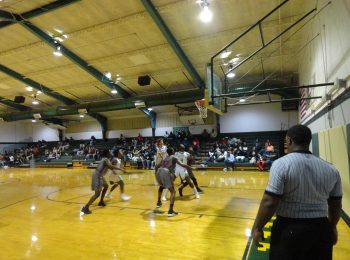 The boys basketball team faces off against Lawrence County at home.