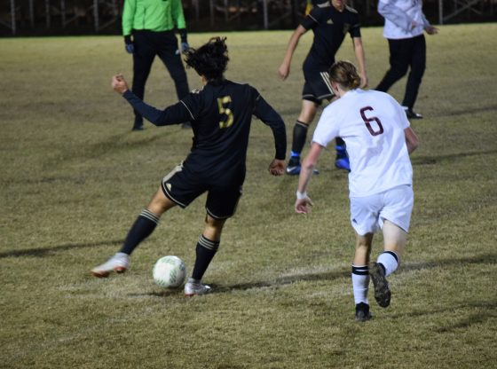 Poplarville Boys Soccer in action.