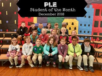 PLE Students of the month for December 2018