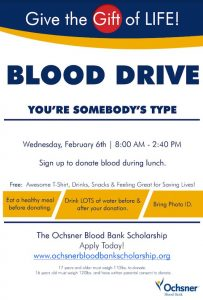 Full Flyer for Blood Drive