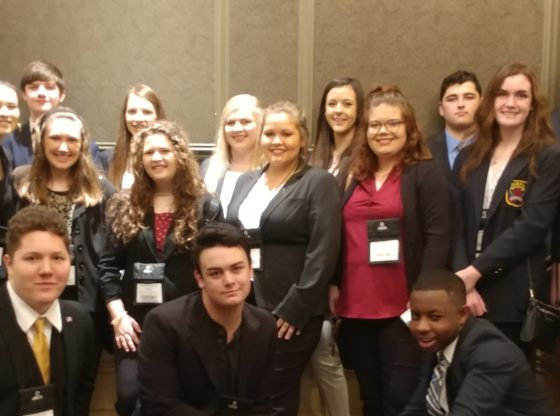Members of the PHS DECA Team who attended the state competition.
