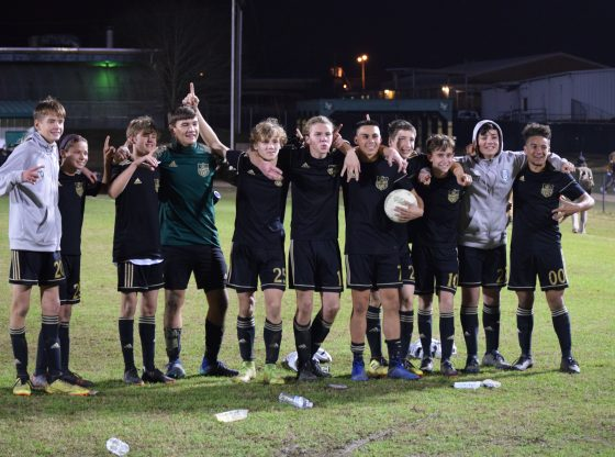 The PHS Hornets Soccer team wins the district championship for the first time ever.