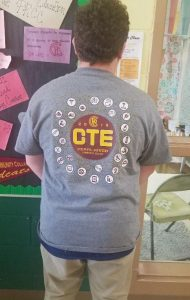 CTE Day at PRCC t-shirt back view