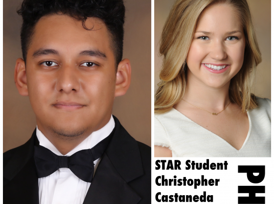 STAR Student Christopher Castaneda and STAR Teacher Erin Gipson