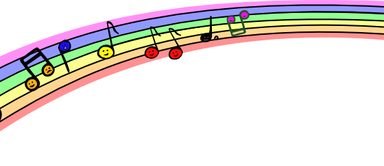 Rainbow with Music Notes