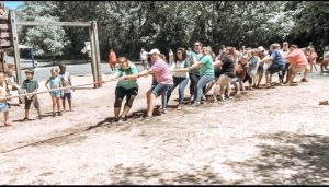 PLE teacher tug of war