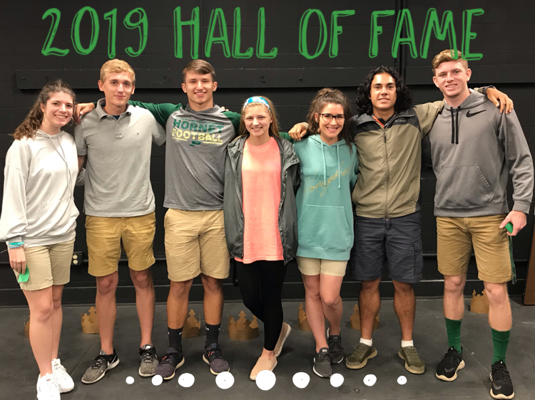 A group photo of the 2019 Hall of Fame students.