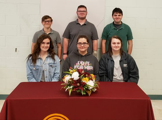 The six students who received band scholarships to PRCC.