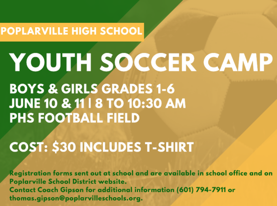 Information on the PHS Youth Soccer Camp.