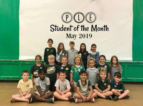 May student of the month at PLE