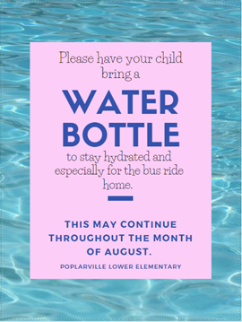 Stay hydrated at PLE by bringing your water bottle