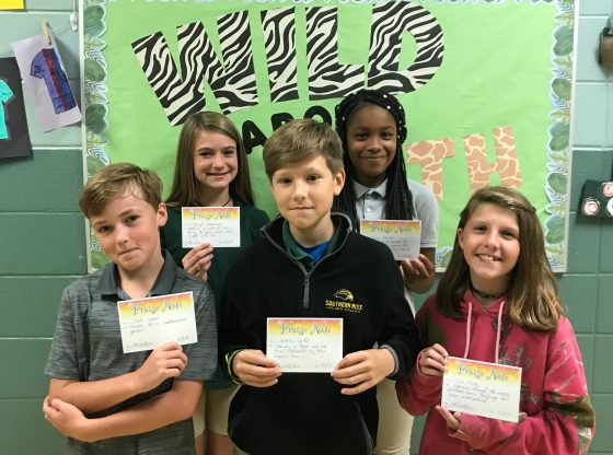 MSP 6th grade students Praise Reports