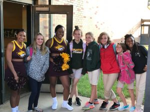 PRCC Cheer visits MSP