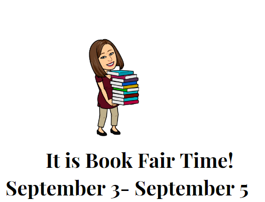 PUE Book Fair Dates Sept 3-5th