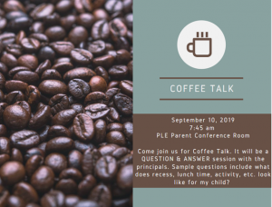 Coffee Talk at PLE
