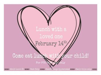 PUE Eat lunch with a loved one