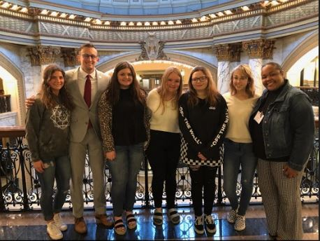 FCCLA students with Rep Jansen Owen